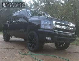 """2007 Chevrolet Silverado 1500 - 22x9 31mm - Replica G02 - Suspension Lift 3.5"""" - 285/55R22"""