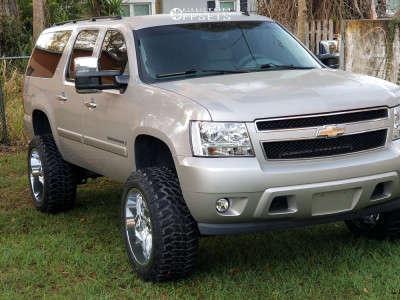 "2008 Chevrolet Suburban - 22x12 -44mm - RBP 76r - Suspension Lift 5"" - 35"" x 12.5"""