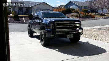 """2011 Chevrolet Silverado 1500 - 20x10 -24mm - Fuel Revolver - Suspension Lift 4"""" - 33"""" x 12.5"""""""