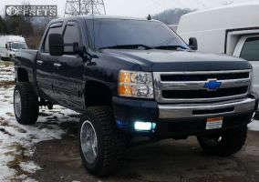 "2009 Chevrolet Silverado 1500 - 20x12 -44mm - Moto Metal MO962 - Suspension Lift 7.5"" - 35"" x 12.5"""