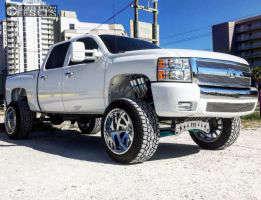 "2008 Chevrolet Silverado 1500 - 22x14 -73mm - American Force Octane SS - Suspension Lift 7"" - 325/50R22"