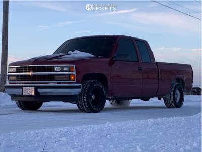 "1992 Chevrolet C1500 - 22x12 -51mm - Vision 360 - Level 2"" Drop Rear - 33"" x 12.5"""