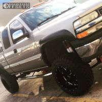 "2002 Chevrolet Silverado 1500 - 20x12 -44mm - Moto Metal MO962 - Suspension Lift 6"" & Body 3"" - 35"" x 12.5"""