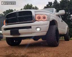"2004 Dodge Ram 2500 - 20x12 -44mm - Moto Metal Mo962 - Suspension Lift 3"" - 305/50R20"