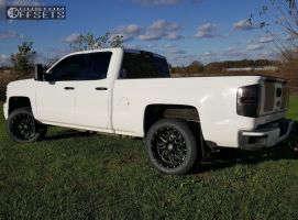 2014 Chevrolet Silverado 1500 - 20x10 -19mm - Hostile Sprocket - Leveling Kit - 275/55R20