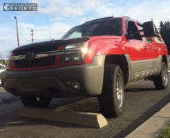2002 Chevrolet Avalanche - 20x9 0mm - Boss 301 - Leveling Kit - 285/60R20