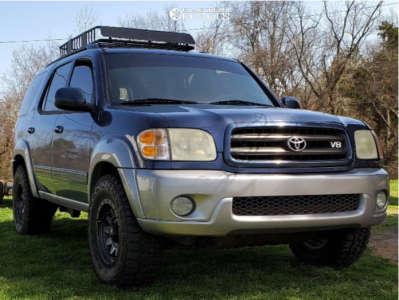 2004 Toyota Sequoia - 17x9 0mm - Dirty Life Roadkill - Stock Suspension - 285/70R17