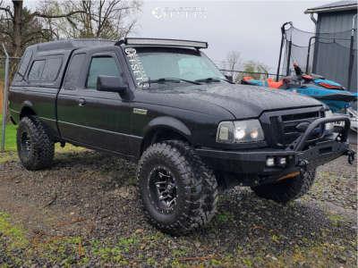 "2003 Ford Ranger - 15x10 -43mm - Fuel Lethal - Suspension Lift 3"" - 33"" x 12.5"""