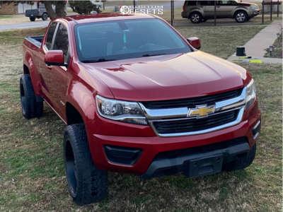 "2015 Chevrolet Colorado - 20x10 -18mm - Anthem Off-Road Avenger - Suspension Lift 2.5"" - 275/55R20"