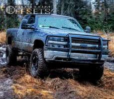 """1999 Chevrolet Silverado 1500 - 18x9 -12mm - Moto Metal Mo951 - Lifted >9"""" - 38"""" x 13.5"""""""