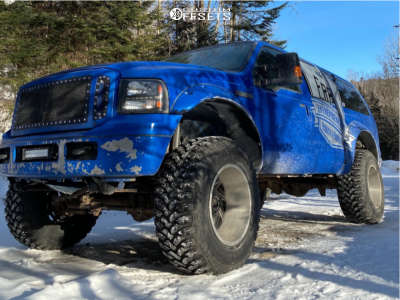 """2000 Ford Excursion - 20x14 -75mm - Xf Offroad Xf-203 - Suspension Lift 4.5"""" - 38"""" x 15.5"""""""