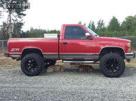 "1989 Chevrolet K1500 - 20x12 -44mm - Moto Metal MO962 - Suspension Lift 4"" - 35"" x 12.5"""