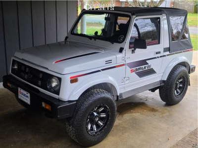 1988 Suzuki Samurai - 15x8 -18mm - Fuel Hardline - Stock Suspension - 235/75R15