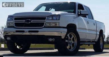 "2006 Chevrolet Silverado 1500 - 20x8.5 0mm - Center Line TOMAHAWK SERIES - STINGRAY III - Suspension Lift 5"" - 33"" x 12.5"""