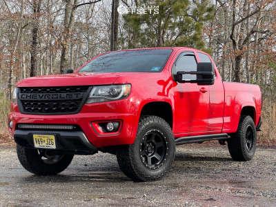 "2015 Chevrolet Colorado - 17x9 0mm - RRW Rr4-V - Suspension Lift 2.5"" - 265/70R17"