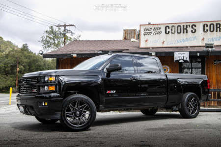 2015 Chevrolet Silverado 1500 - 22x10 10mm - Gear Off-Road Ratio - Leveling Kit - 285/45R22