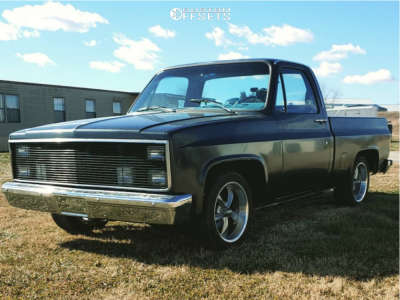"""1986 Chevrolet C10 - 18x8 0mm - Ridler Style 695 - Lowered 2F / 4R - 25"""" x 8.5"""""""