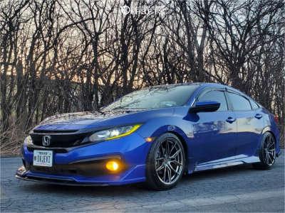 2019 Honda Civic - 18x8.5 35mm - XXR 559 - Lowering Springs - 235/40R18