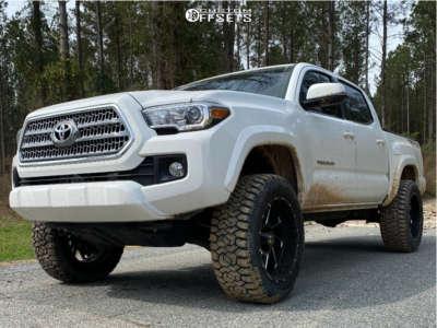 "2016 Toyota Tacoma - 20x10 -19mm - Hostile Stryker - Suspension Lift 3.5"" - 285/55R20"