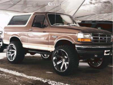 "1993 Ford Bronco - 24x14 -81mm - ARKON OFF-ROAD Lincoln - Suspension Lift 6"" - 35"" x 13.5"""