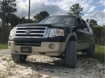 """2007 Ford Expedition - 22x12 -44mm - Karma Offroad K25 - Suspension Lift 3"""" - 33"""" x 12.5"""""""