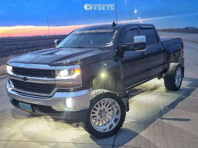 "2017 Chevrolet Silverado 1500 - 22x10 -25mm - American Force Atom Ss - Suspension Lift 6"" - 33"" x 12.5"""