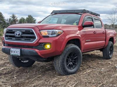 "2016 Toyota Tacoma - 17x8.5 0mm - Icon Alloys Vector 6 - Suspension Lift 3"" - 33"" x 12.5"""