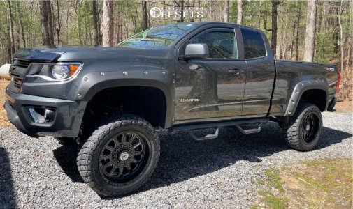 "2017 Chevrolet Colorado - 20x10 -24mm - Anthem Off-Road Intimidator - Suspension Lift 6"" - 31"" x 10.5"""