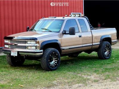 1997 Chevrolet K2500 - 20x10 -25mm - Vision Creep - Stock Suspension - 285/55R20