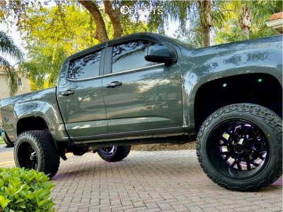 "2017 Chevrolet Colorado - 20x12 -44mm - Hardrock Affliction - Suspension Lift 4"" - 33"" x 12.5"""
