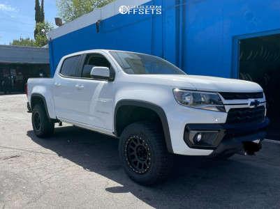 2021 Chevrolet Colorado - 17x8.5 0mm - Method Grid - Leveling Kit - 265/65R17