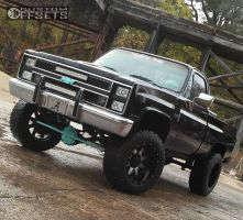 """1985 Chevrolet K10 - 20x12 -44mm - Gear Off-Road Big Block - Suspension Lift 7"""" - 35"""" x 12.5"""""""