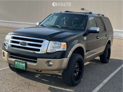 """2013 Ford Expedition - 20x10 -24mm - Panther Offroad 580 - Suspension Lift 3.5"""" - 33"""" x 10.5"""""""