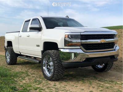 "2016 Chevrolet Silverado 1500 - 22x10 -19mm - Scorpion Saw - Suspension Lift 4.5"" - 33"" x 12.5"""