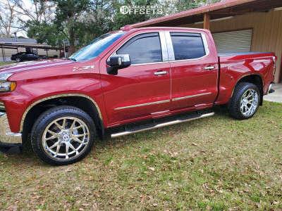 2019 Chevrolet Silverado 1500 - 22x10 -25mm - Hostile Forged Rage - Stock Suspension - 285/45R22