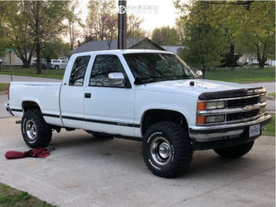 "1994 Chevrolet K1500 - 15x8 -12mm - Jegs Rally Wheels - Leveling Kit - 33"" x 12.5"""