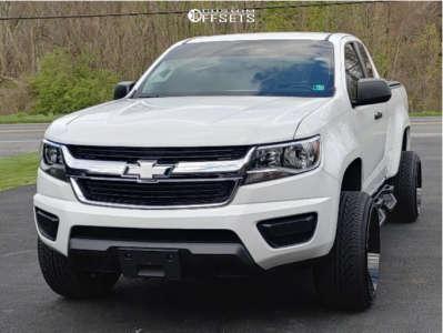 "2020 Chevrolet Colorado - 22x12 -44mm - Motiv Offroad Morph - Suspension Lift 2.5"" - 265/35R22"