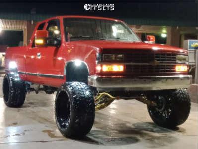 "1990 Chevrolet C1500 - 24x14 -76mm - TIS 544bm - Suspension Lift 10"" - 35"" x 13.5"""