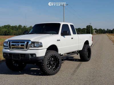 """2007 Ford Ranger - 20x12 -44mm - TIS 544bm - Suspension Lift 5"""" - 33"""" x 12.5"""""""