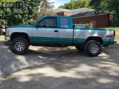 "1994 Chevrolet K1500 - 16x10 -24mm - American Eagle 186 - Body Lift 3"" - 285/75R16"