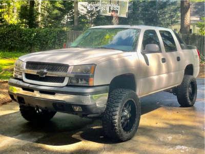 "2004 Chevrolet Avalanche 1500 - 20x10 0mm - Dropstar 645b - Suspension Lift 6"" - 33"" x 12.5"""