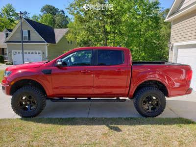 "2021 Ford Ranger - 18x9 1mm - Fuel Ripper - Suspension Lift 3.5"" - 33"" x 12.5"""