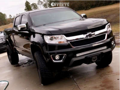 "2015 Chevrolet Colorado - 20x10 0mm - Hardrock Crusher - Suspension Lift 6"" - 33"" x 12.5"""