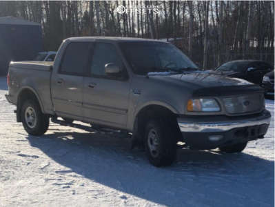 """2003 Ford F-150 - 16x10 -25mm - BBY Offroad Big Nutz - Stock Suspension - 32"""" x 12.5"""""""
