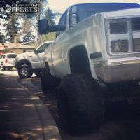 "1984 Chevrolet K10 - 15x15 -127.6mm - Pull truck wheel Steelie - Suspension Lift 6"" - 31"" x 13.5"""
