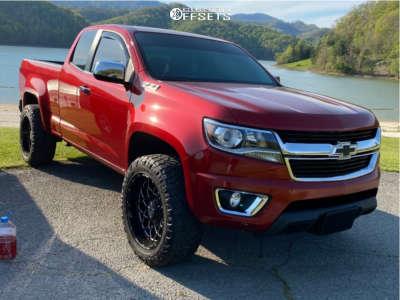 "2015 Chevrolet Colorado - 20x10 -18mm - Anthem Off-Road Avenger - Leveling Kit - 32"" x 10.5"""