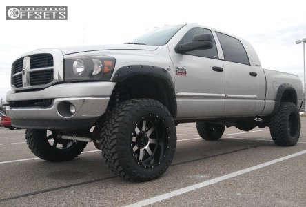 "2007 Dodge Ram 2500 - 22x12 -44mm - Gear Off-Road Big Block - Suspension Lift 6"" - 37"" x 13.5"""