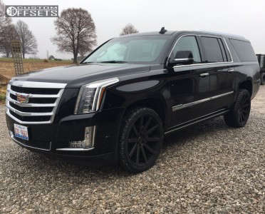 2017 Cadillac Escalade ESV - 24x10 25mm - Dub Shot Calla - Stock Suspension - 305/35R24