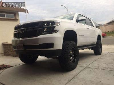 "2015 Chevrolet Suburban - 18x9 -12mm - XD XD795 - Suspension Lift 7"" - 305/65R18"