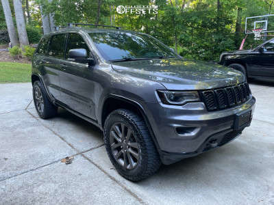 """2016 Jeep Grand Cherokee - 20x8 0mm - Factory Reproductions Fr10 - Suspension Lift 2.5"""" - 33"""" x 12.5"""""""